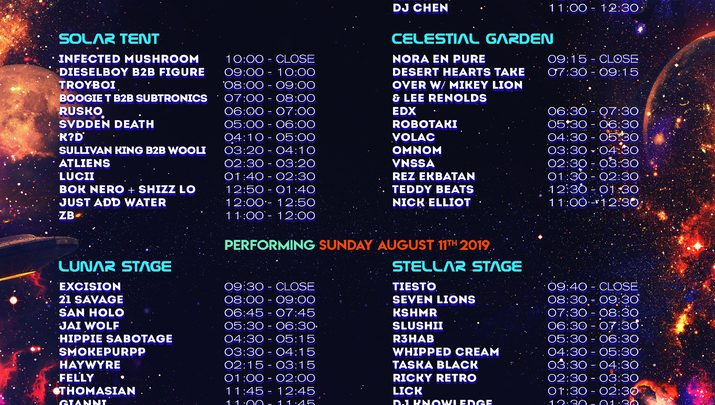 Moonrise Festival timetable